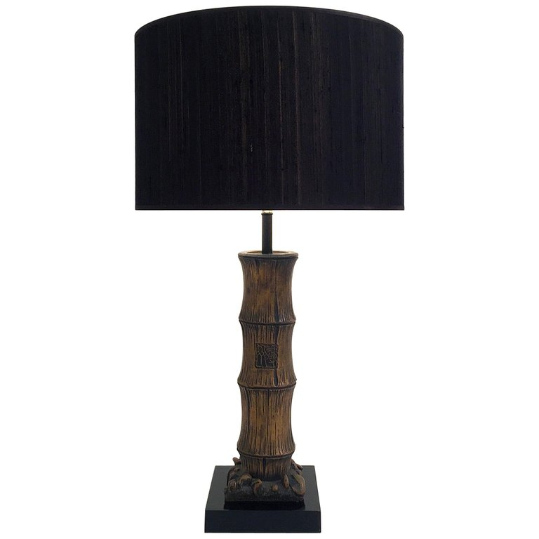 1stdibs Table Lamp Carved Chinese Style Faux Bamboo French
