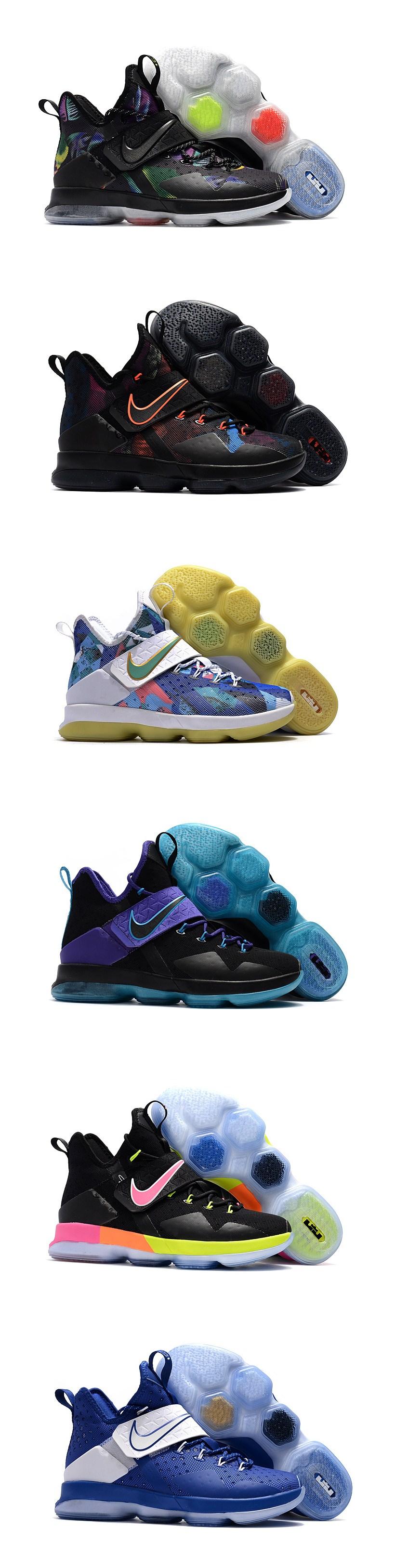 f67669e63041 Cheap LeBron James in Nike LeBron 14 Free Shipping Black Colorful ...