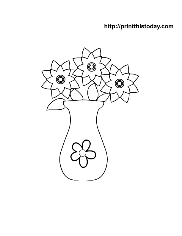 i have made some free printable mothers day coloring pages that will be loved by kids and their moms teachers can use these free printable pages in class - Coloring Pages Roses A Vase