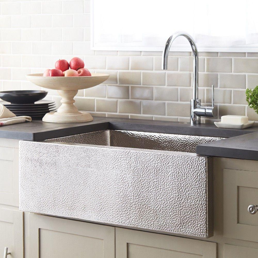 Pinnacle Modern Copper Farmhouse Kitchen Sink Kitchen