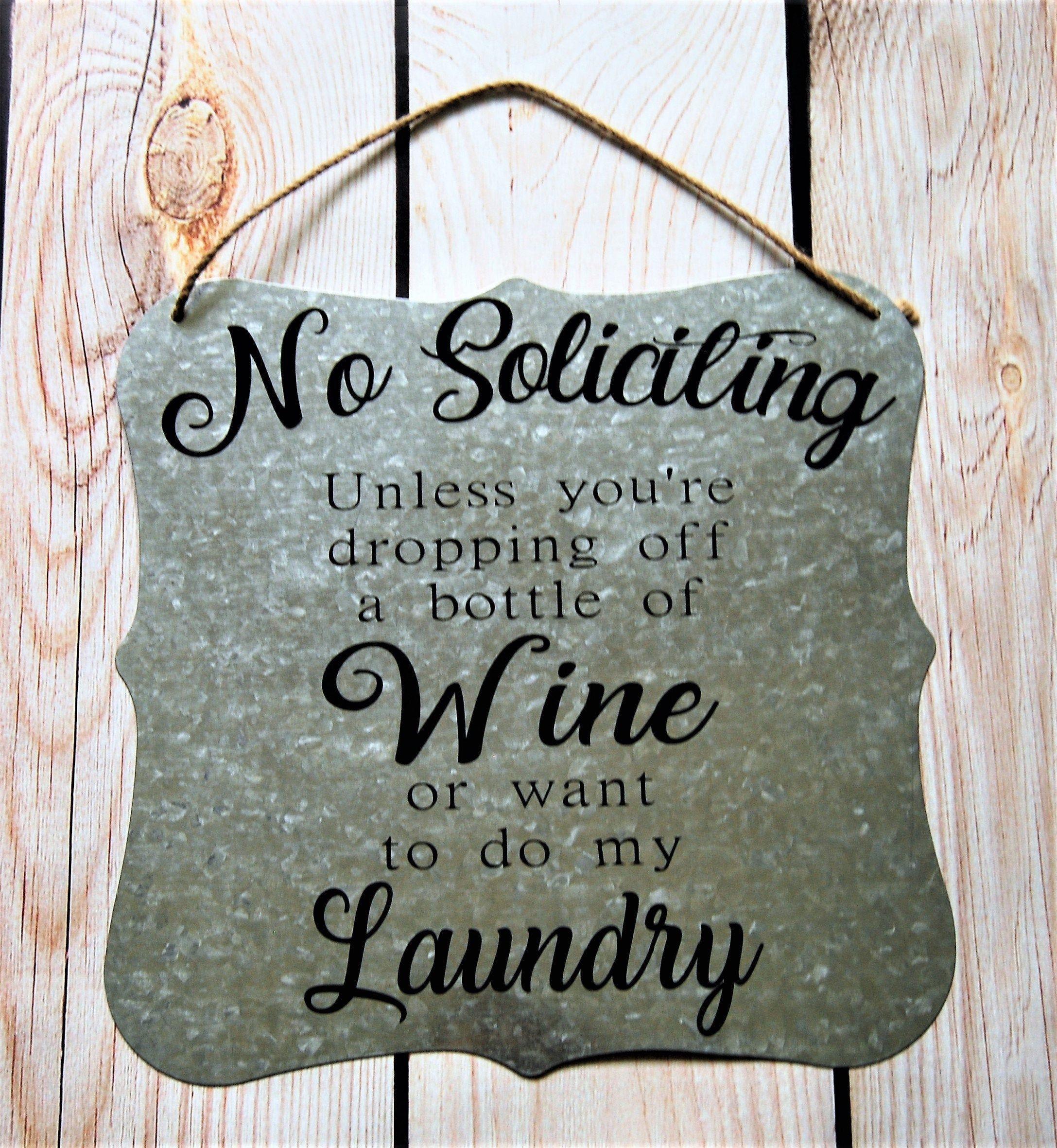 Funny No Soliciting Door Hanger Metal Sign, No Soliciting Door Sign, No Soliciting Signs Funny, No Solicitors, No Solicitation, Funny Sign
