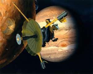 © Provided by AFPRelaxNews This NASA artist's concept shows the Galileo spacecraft flying by Jupiter's volcanic moon Io (L) and the gigantic planet. A NASA spacecraft, Juno, has successfully peered into the giant storm raging on Jupiter, known as the Great Red Spot, and its first...