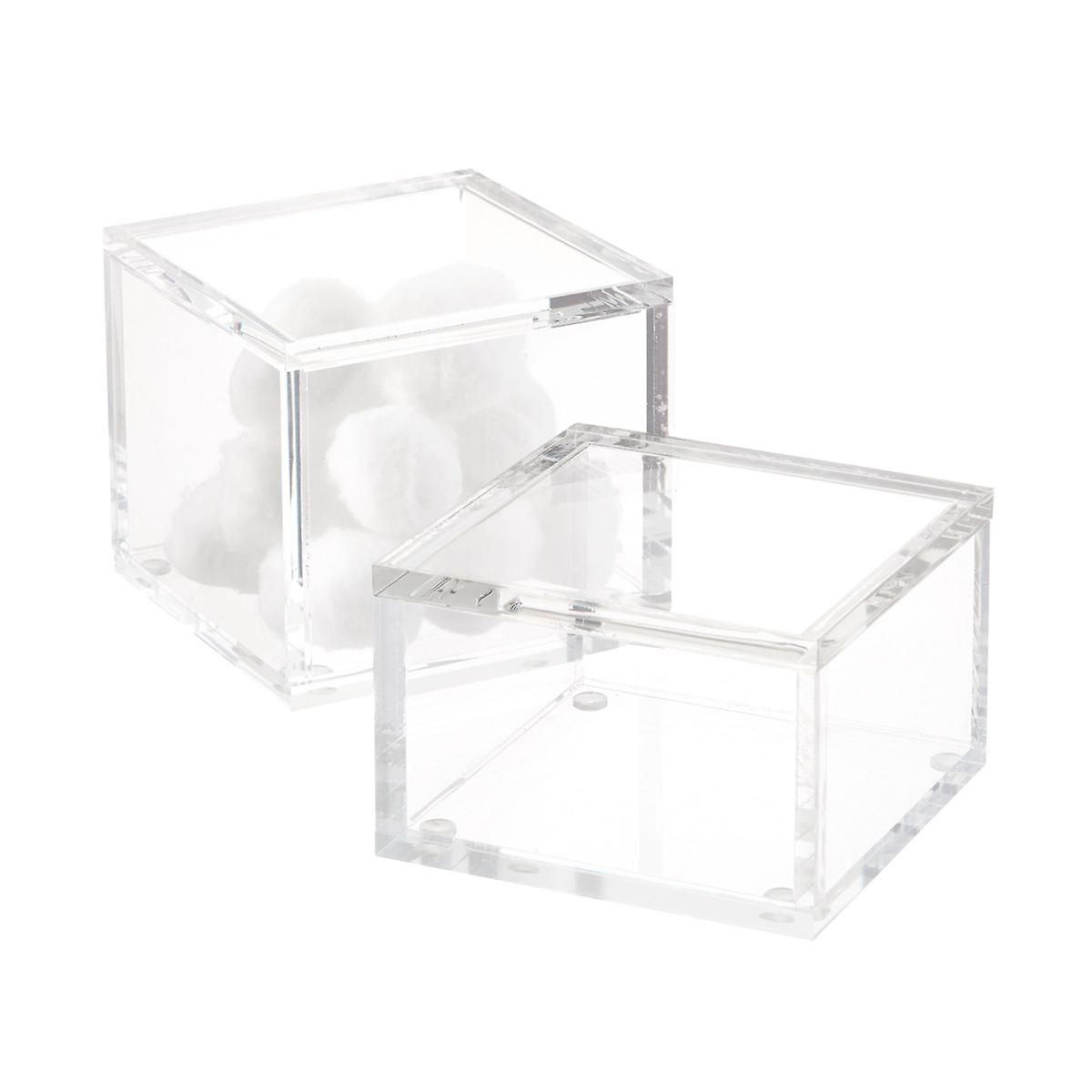 Square Acrylic Canisters The Container Store Kitchen Jars