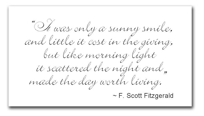 it was only a sunny smile love this quote thinking quotes