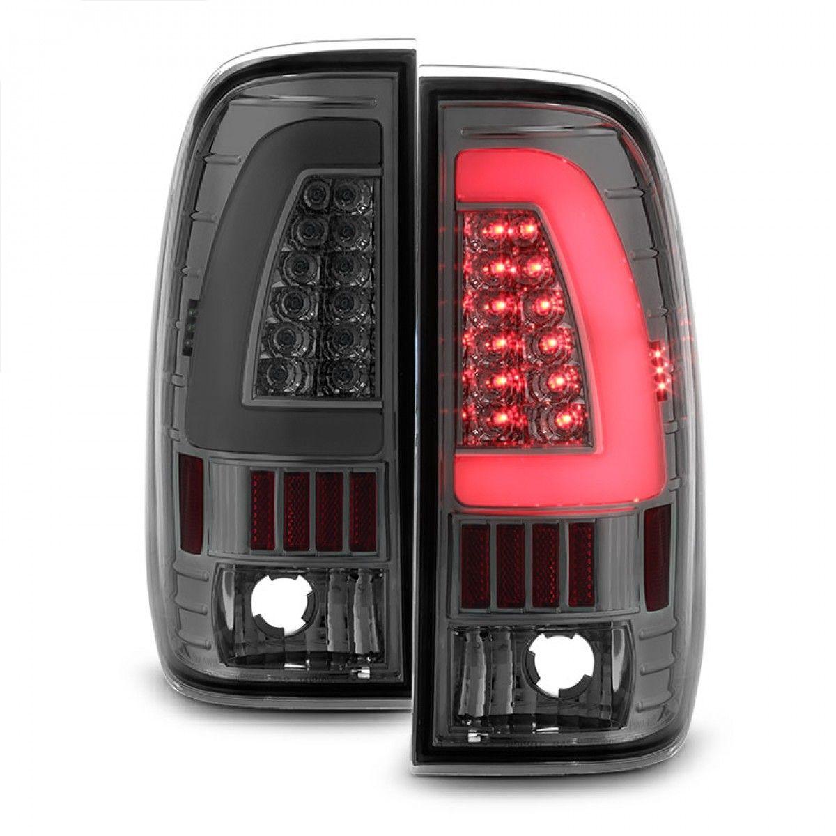 Onebigoutlet 1997 2007 F2 3 4 550 Led Tail Lights W Led Signal Function Smoked Led Tail Lights Tail Light Chevy Accessories