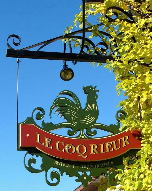 "Bristot Sign ""Le Coq Rieur"" in France."