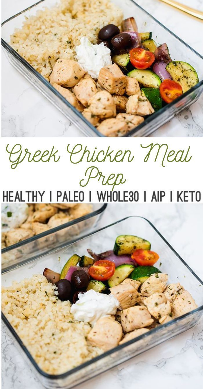 One Pan Greek Chicken Meal Prep This oneskil
