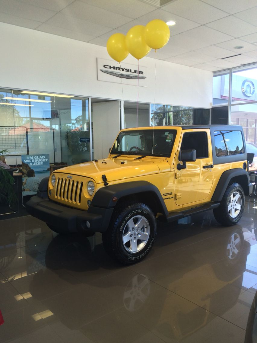 Jeep Wrangler 2 Door Sport Baha Yellow Heartland Chrysler Jeep Dodge Chullora Dream Cars Jeep Dream Cars Yellow Jeep
