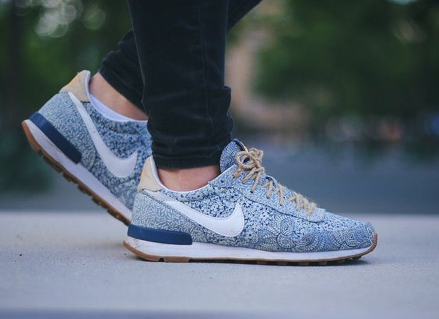 on sale 085c9 cf196 4-Liberty of London x Nike Internationalist Blue Recall Linen -  kickedffm