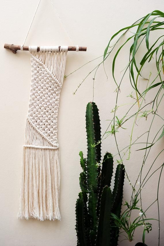 Handmade White Macrame Wall Art / FibreArt / Boho Chic / Rustic / Wallhanging / Home Decor / Tapestr