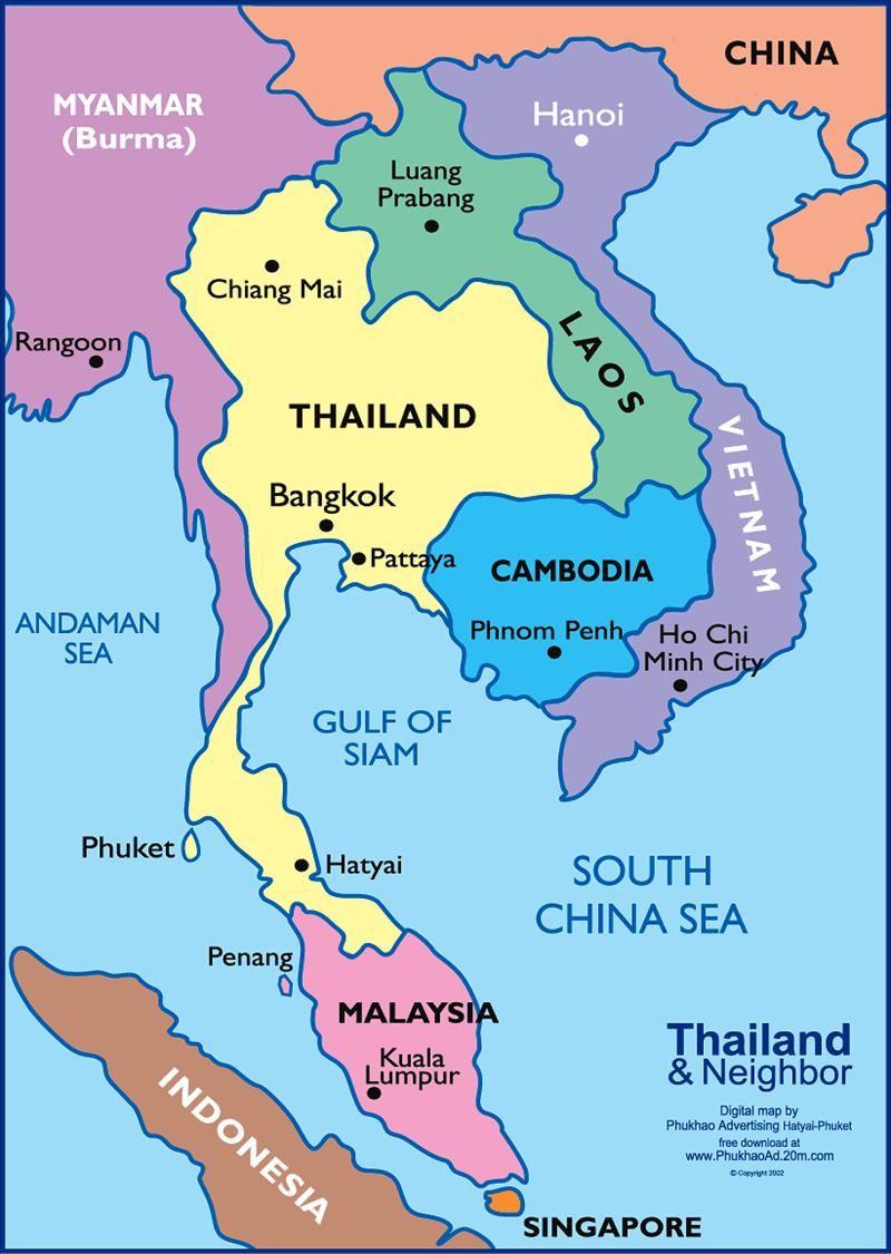 Travel Round South East Asia Thailand Reisen Asien Karte Reise Skizzenbuch
