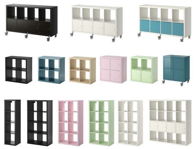 IKEA Kallax Cube Storage Series Shelf Shelving Units Bookcase Expedit 16  Cubes