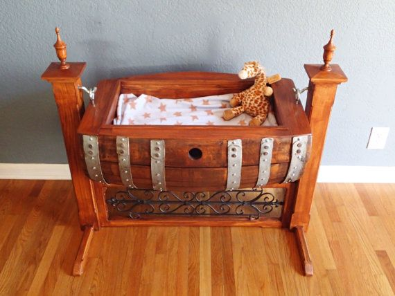 Wine Barrel Baby Cradle Custom Made By Picklepatchrelics On Etsy 1500 00 Follies Pinterest Barrels And Babies