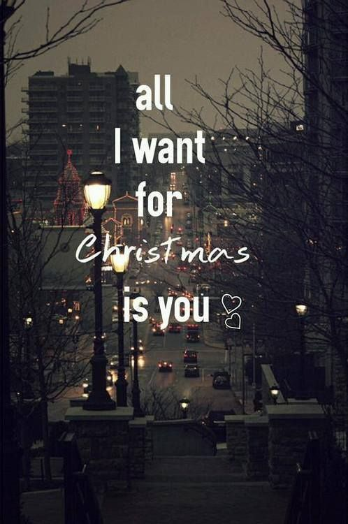 All I could want or ask for this christmas. I have God, I have my ...