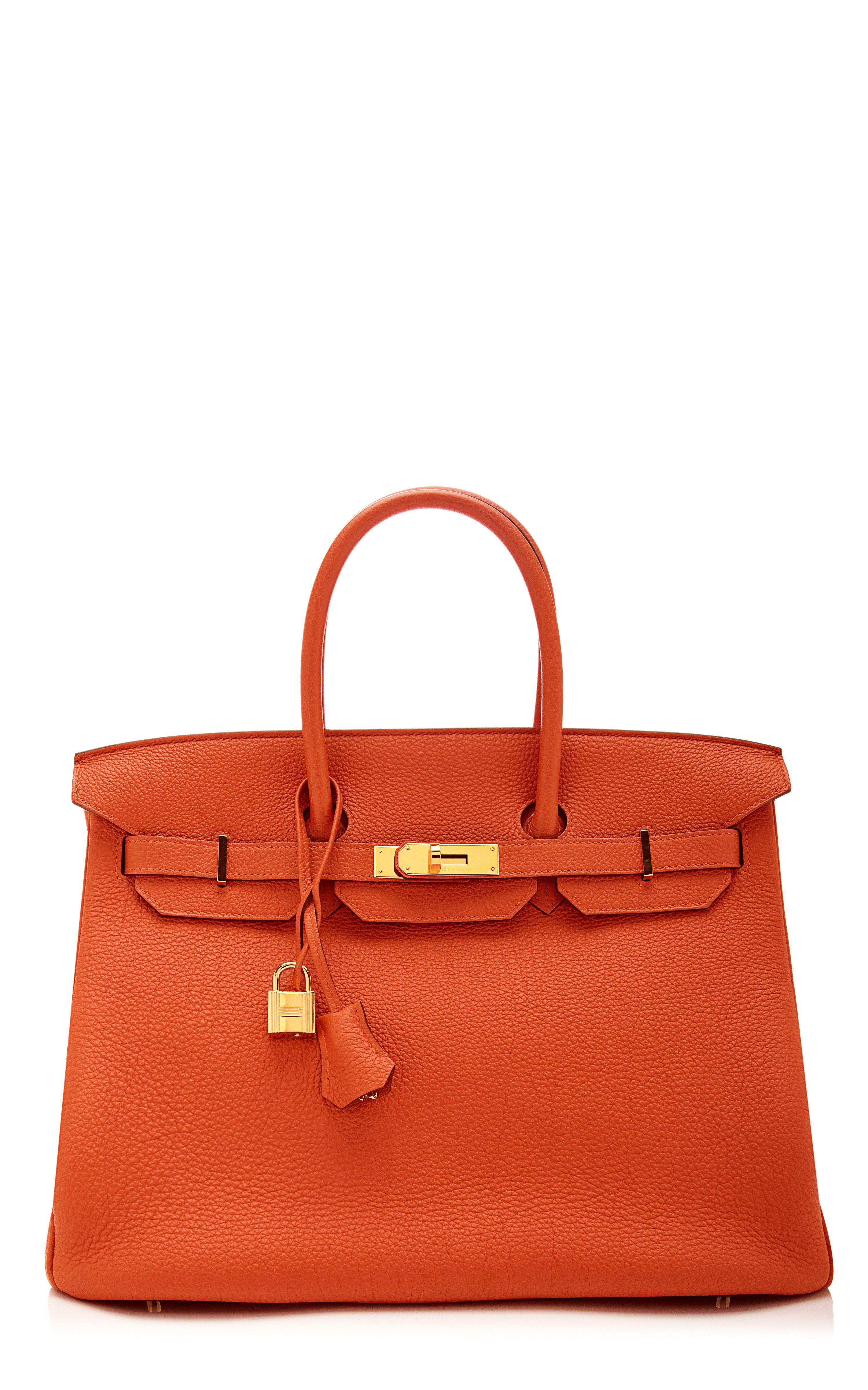 1f2b473b7903 Hermes Orange H Togo Leather 35 cm Birkin Bag – Spring 2014  www.MadamPaloozaEmporium.com www.facebook.com MadamPalooza