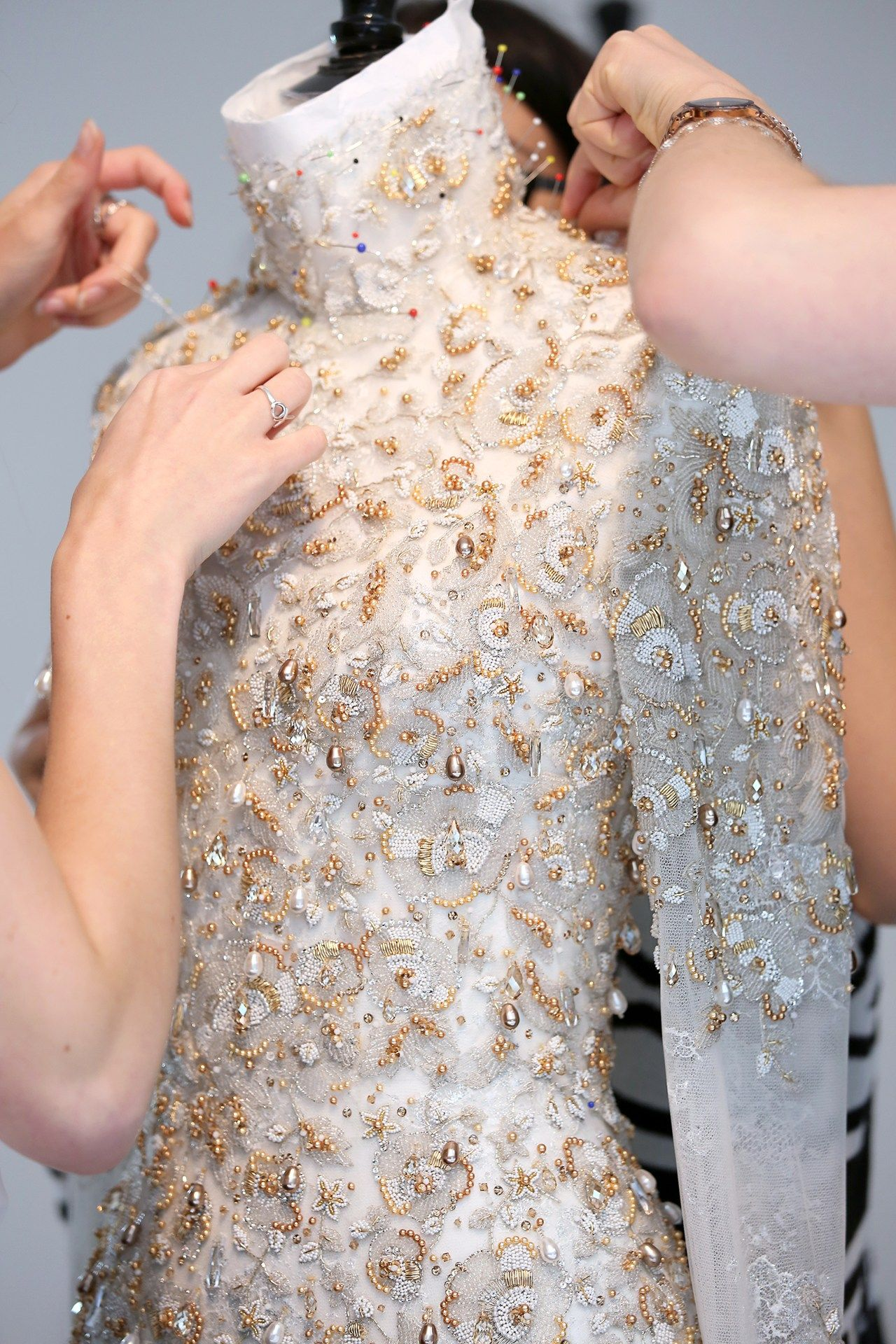The making of a couture bride atelier and