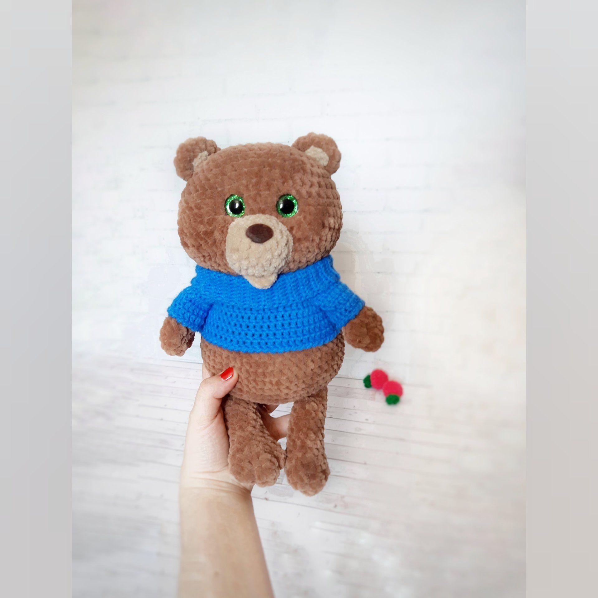 Crochet plush bear amigurumi | Amiguroom Toys | 1920x1920