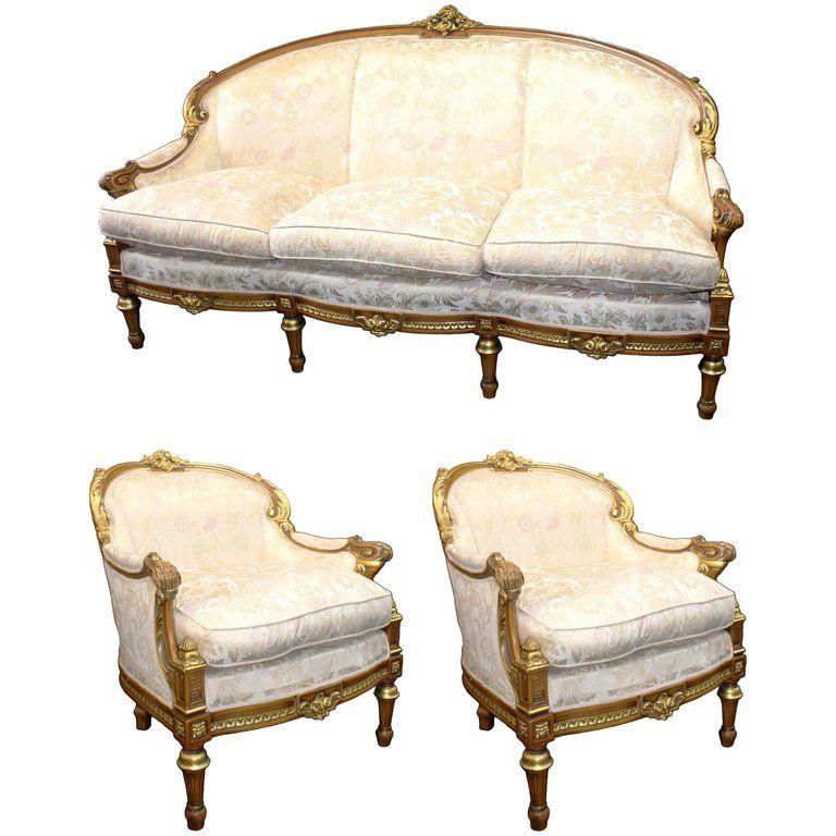 Best 1Stdibs Living Room Set Ornate Upholstered French Style 400 x 300