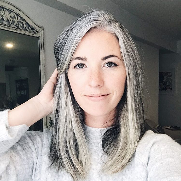 """Three years ago today I decided to stop dyeing my hair and embrace my  """"premature"""" greys. I might…   Premature grey hair, Grey hair inspiration,  Gray hair highlights"""