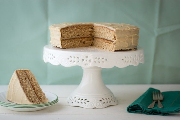 Spice Cake wtih Penuche Frosting | dramatic pancake