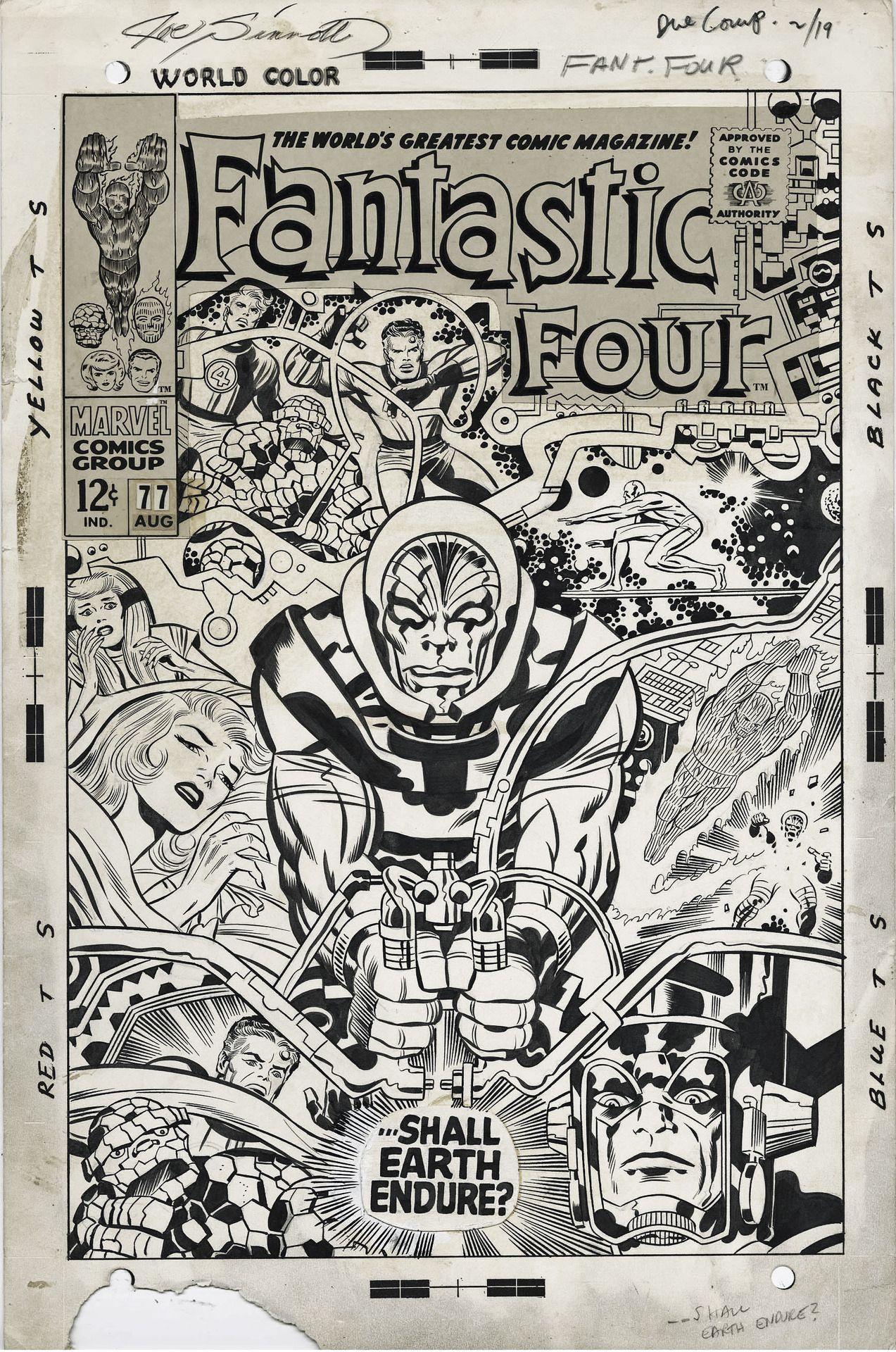 Kirby Sinnott Ff 77 Jack Kirby Art Jack Kirby Comic Art