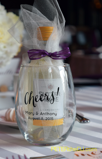 Wedding Mary And Anthony At Colgate Inn Hamilton 8 8 15 Wine Glass Wedding Favors Wine Glass Favors Wine Wedding Favors