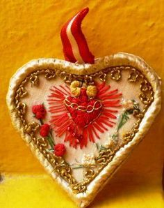 embroidered sacred heart - Google Search