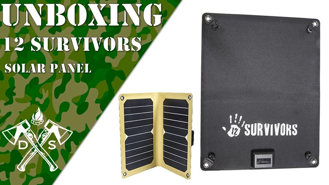 12 Survivors Solar Panel Bug Out Bag First Aid Youtube Daily Survivor Diy Survival Shtf Usb Solar Panel Powe Survival Equipment Survival Survival Gear