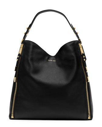 ac765f42fb37 Michael Kors Miranda Zipper Shoulder Bag.