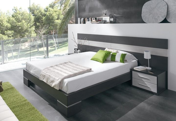 Respaldo de cama con mesa de luz flotante buscar con - Camas modernas para jovenes ...