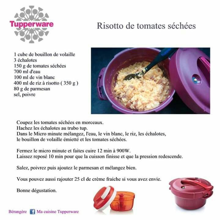 tupperware risotto de tomates s ch es recettes. Black Bedroom Furniture Sets. Home Design Ideas