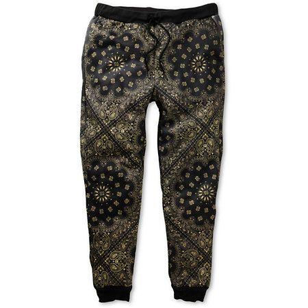 0bbc848b72 Elwood Gold Bandana Sublimated Skinny Jogger Pants | For Dudes ...