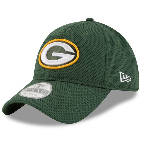 presenting detailed images reasonably priced Men's Green Bay Packers New Era Green Perf Shore Training Mesh ...