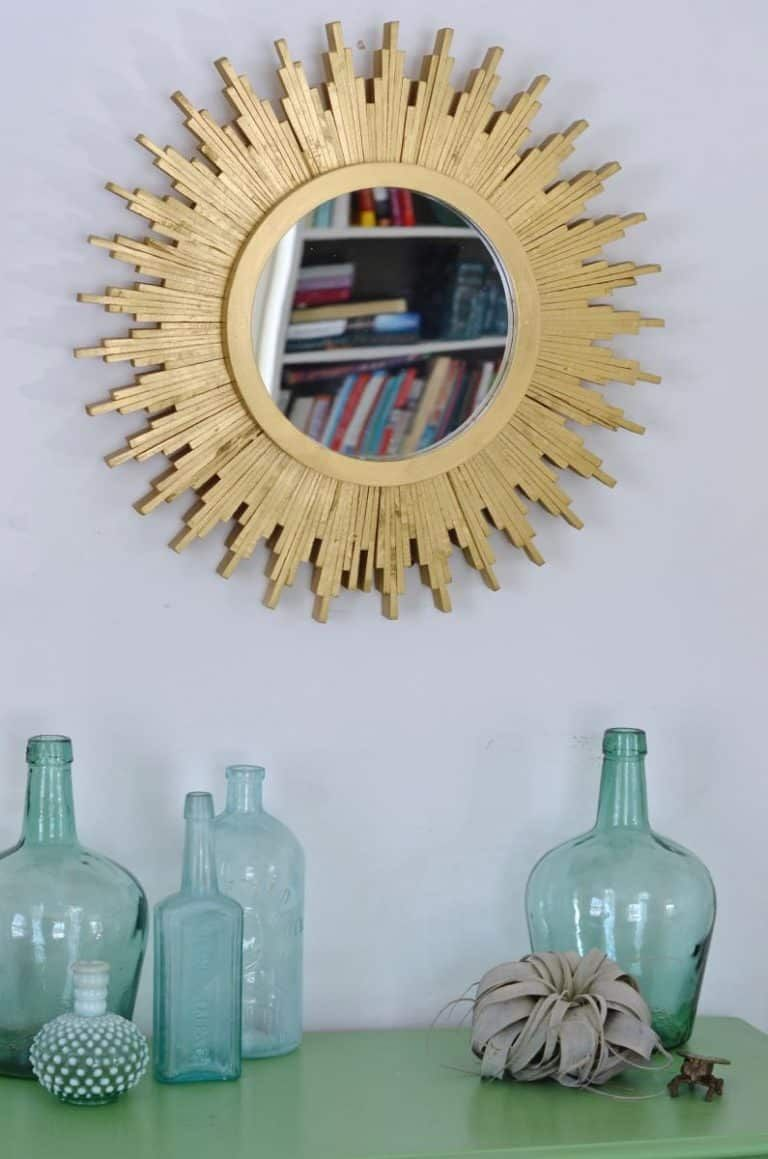 DIY Sunburst Mirror | Sunburst mirror, Diy mirror, Mirror