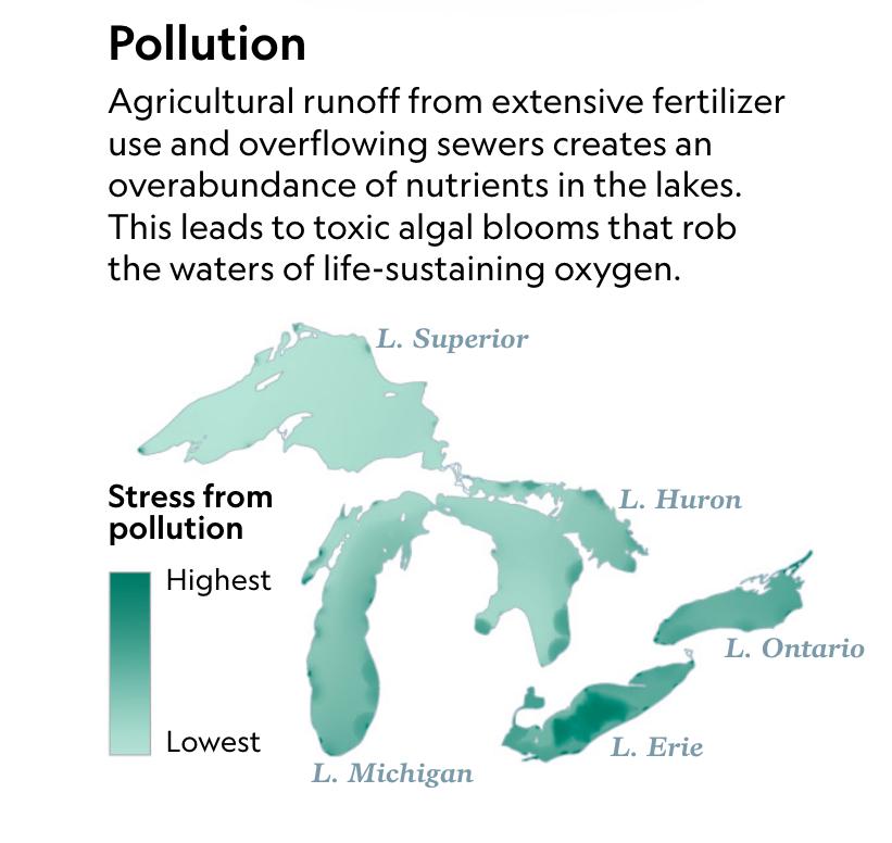 Maps Show How Dramatically Fertilizer Is Choking The Great Lakes In 2020 Great Lakes Lake Fertilizer