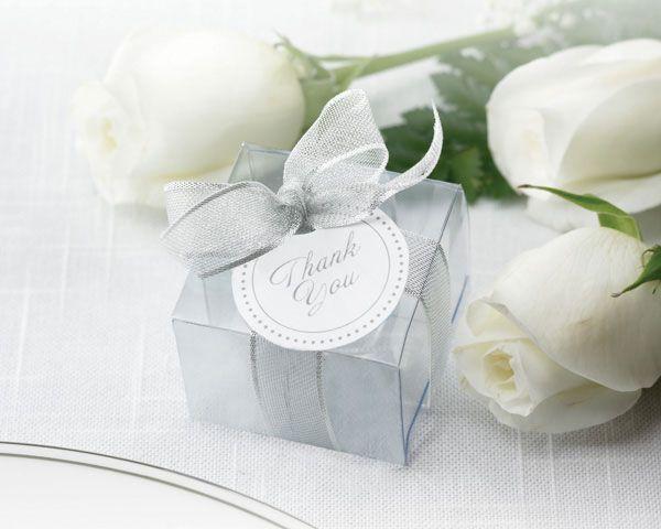 Clear Silver Favor Bo Set Of 50 Favors Pinterest