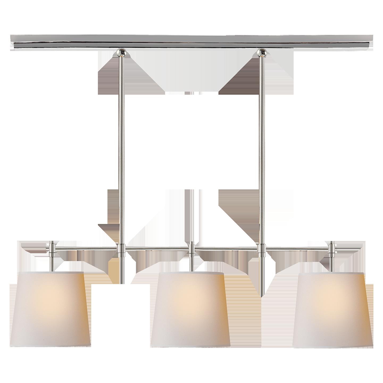 Bryant small billiard light 36w 798 retail chandeliers visual comfort thomas obrien bryant 3 light linear pendant in antique nickel arubaitofo Gallery