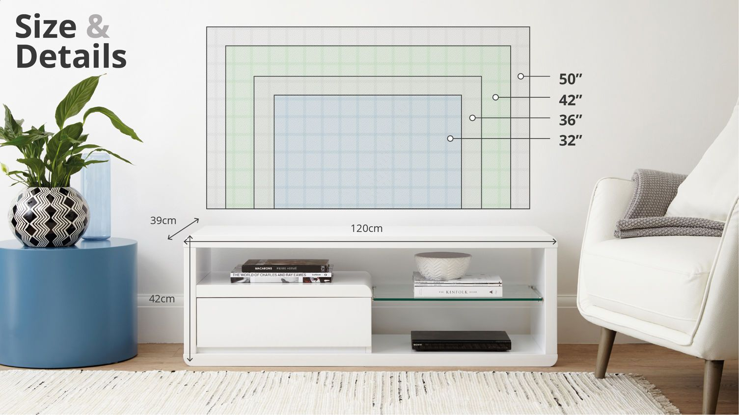 Alessia Compact White Gloss TV Table | Pinterest | Tv tables, Tv ...