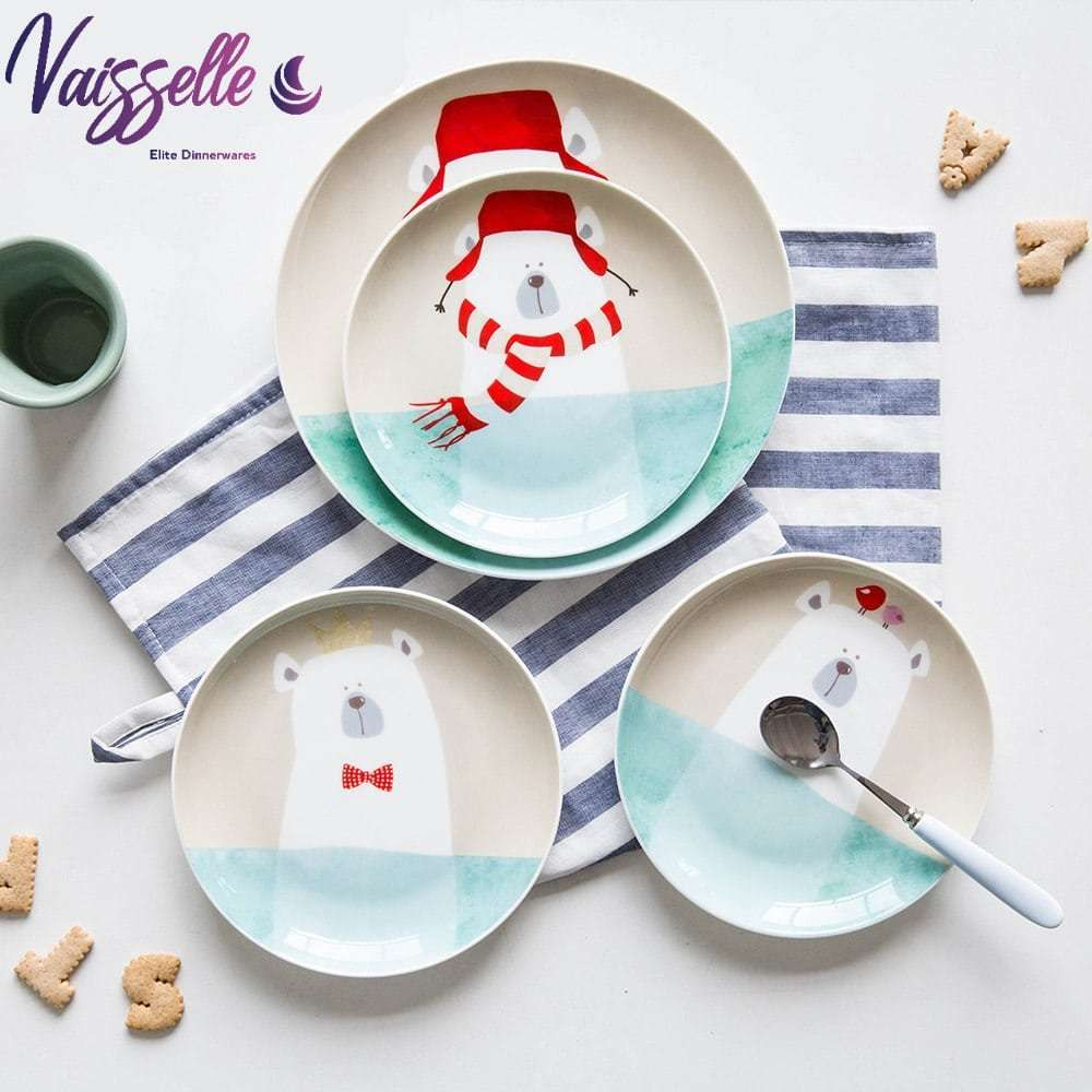 Kids Dishes Winter Pattern Style Vaisselle Elite Dinnerware Elite Dinnerwares Kids Dinnerware Kids Dishes Kids Tableware