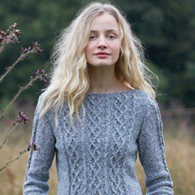 Check out Rowan Cabled Three Quarter Sleeve Sweater (Free) at WEBS | Yarn.com.