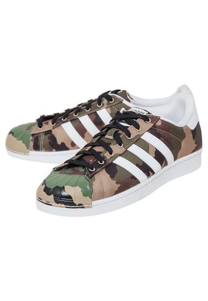 best sneakers 1b359 78869 Zapatilla Superstar Shell Toe Pack Verde Militar ADIDAS Originals.- Modelo  urbano.- Diseño estilo militar.- Capellada de poliéster con corte de cuero.