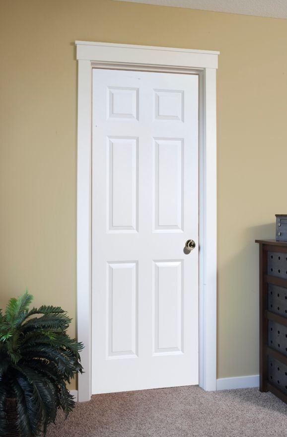 4 Panel White Interior Doors Interior Door In Raised 6 Panel Door White Interior Doors Wood Doors Interior Door Design Interior