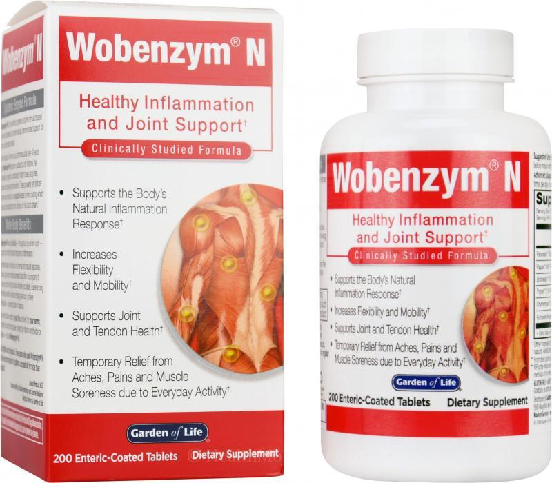 Garden of Life Wobenzym N Healthy joints, Joint health
