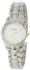 Caravelle by Bulova Women's 45L124 Stylized Arabic Numerals Floral-Motif Dial Watch