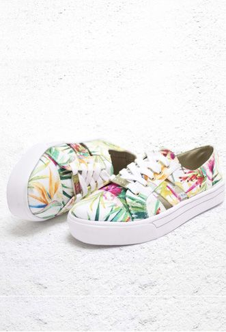 online store 18842 a6087 Tenis   Lateral Flores - Mango Tango