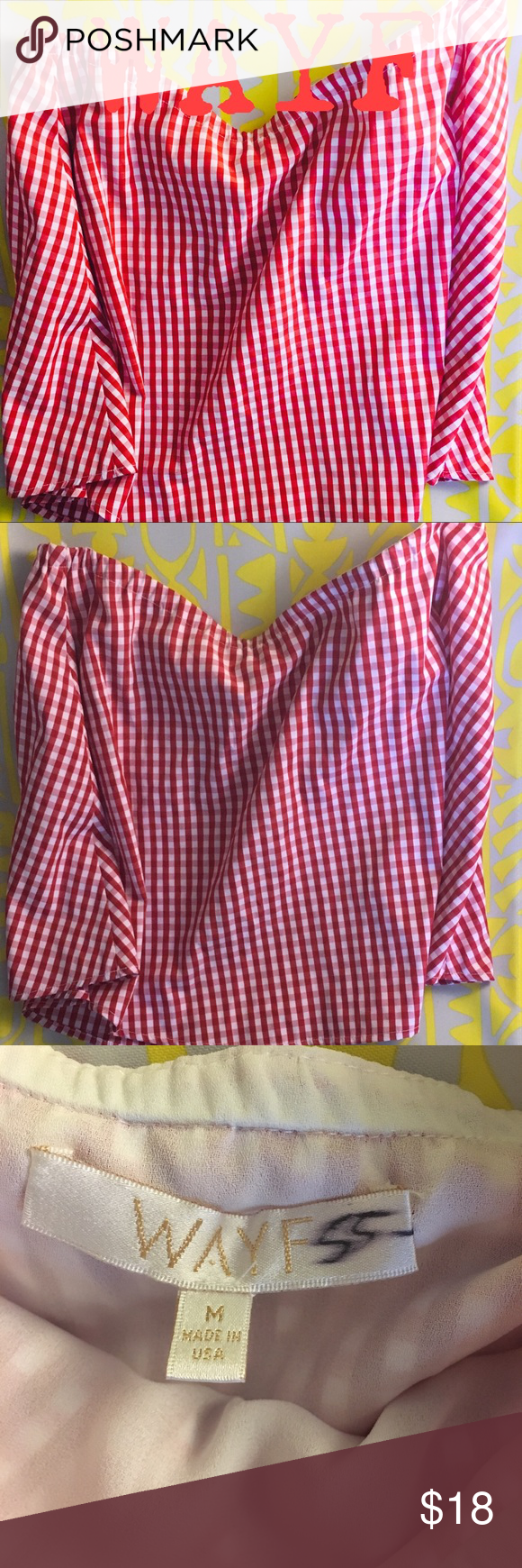 fa3aadc2c12 WAYF Gingham Red   White Tube Top Size M Super trendy red and white  checkered gingham tube top. Size Medium. Hits just at the waist.