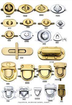 Purse lock Magnetic Snaps bag lock Metal Lock purse hardware