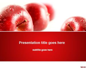 free apples nutrition powerpoint template is a nice background and