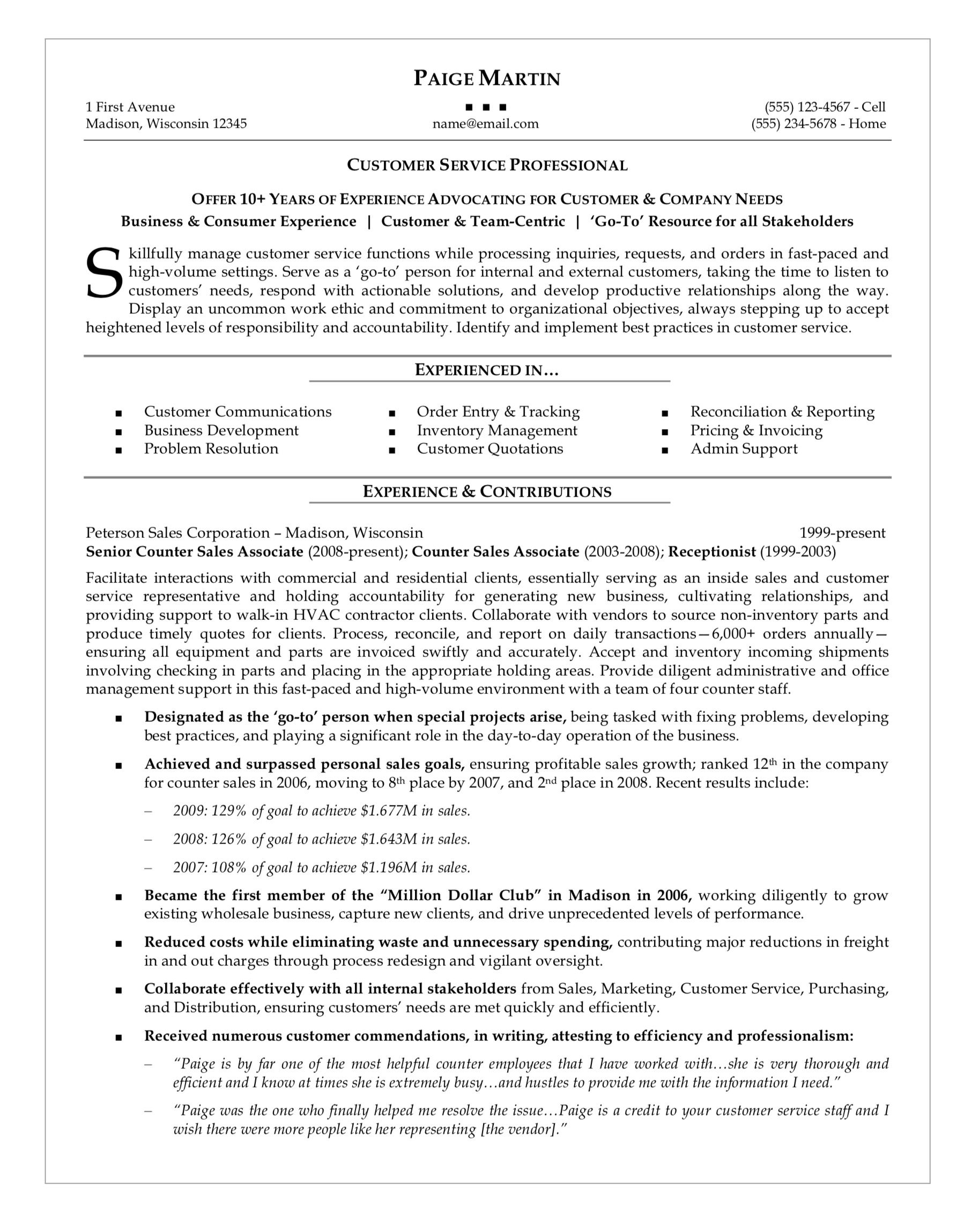 How To Write A Qualifications Summary Professional Resume
