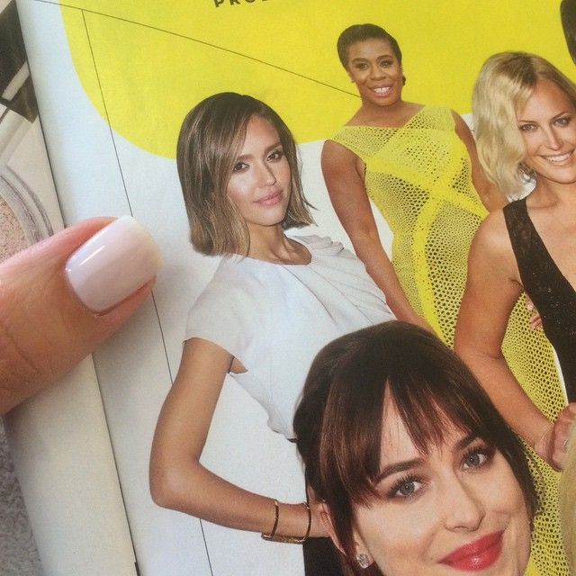 Love seeing our Slim Bond Cuff on Jessica Alba in @usweekly during a mani @oliveandjune ✨ #jessicaalba #usweekly #mothersday #jewelry #madeinLA #rachelkatzjewelry www.rachelkatzjewelry.com
